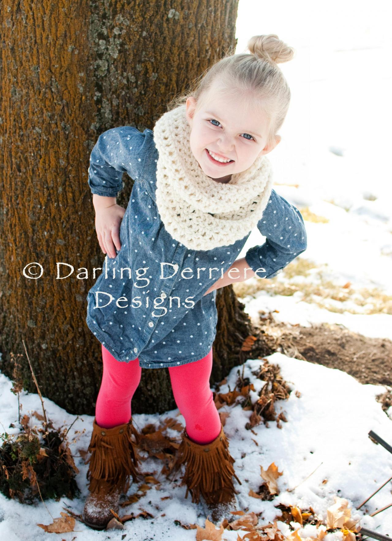 Knitting Pattern Child Infinity Scarf : Double Wrap Infinity Scarf Crochet Pattern on Luulla