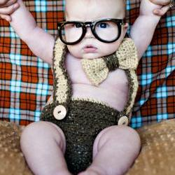 Bowtie and Suspenders Diaper Cover Crochet Pattern