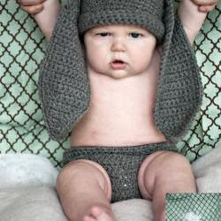 Bunny Hat and Diaper Cover Crochet Pattern