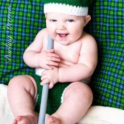 Golf Hat and Diaper Cover Crochet Pattern